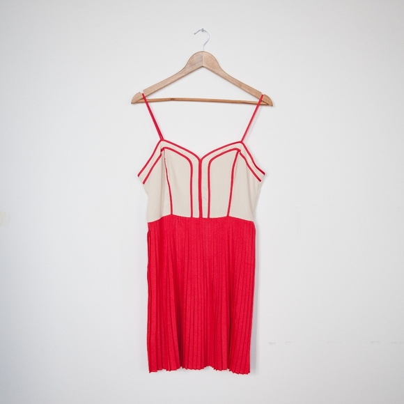 9264dab2cd Urban Outfitters Dresses | Coincidence Chance Pleated Bustier Dress ...